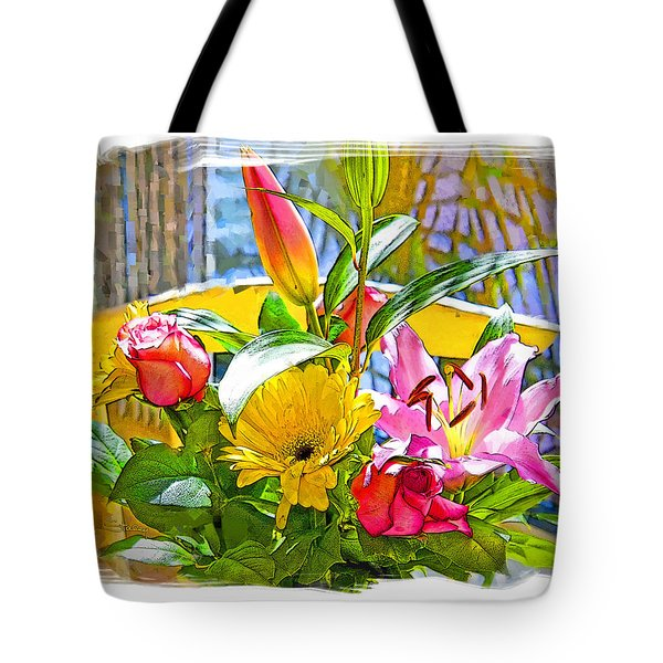 December Flowers Tote Bag by Chuck Staley