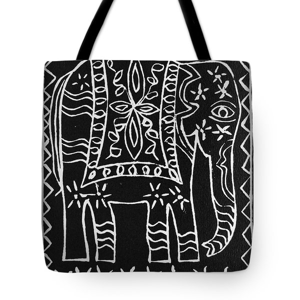 Decorated Elephant Tote Bag by Caroline Street