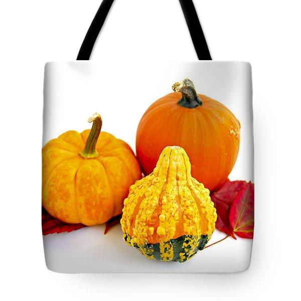 Decorative pumpkins Tote Bag by Elena Elisseeva