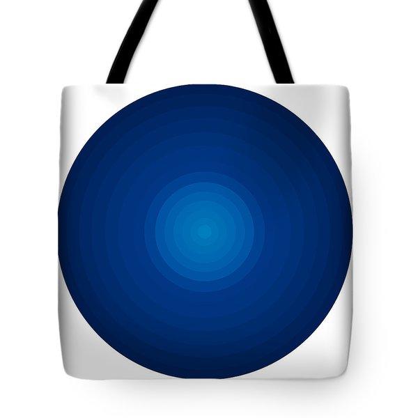 Deep Blue Circles Tote Bag by Frank Tschakert