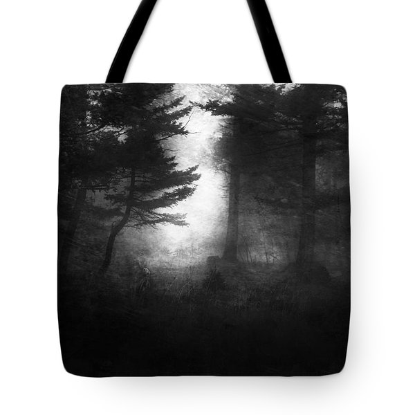 Deep In The Dark Woods Tote Bag by Theresa Tahara