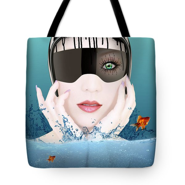 Deep Inside  Tote Bag by Mark Ashkenazi