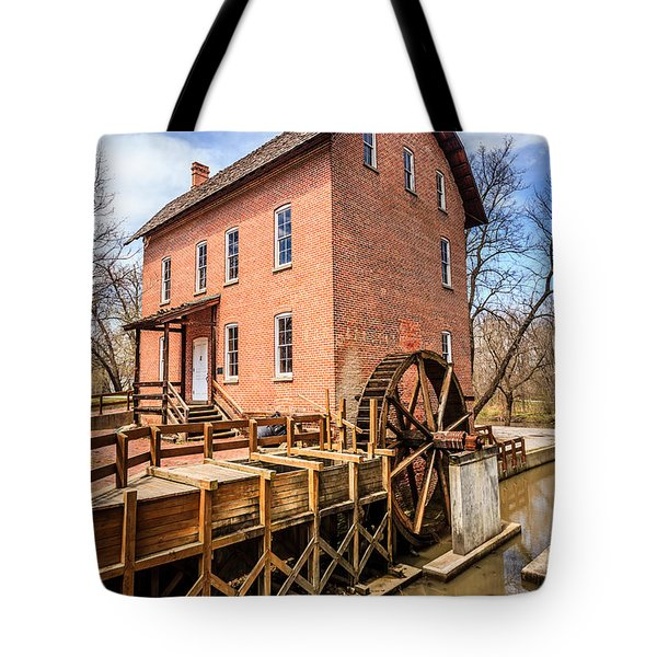 Deep River Grist Mill In Northwest Indiana Tote Bag by Paul Velgos
