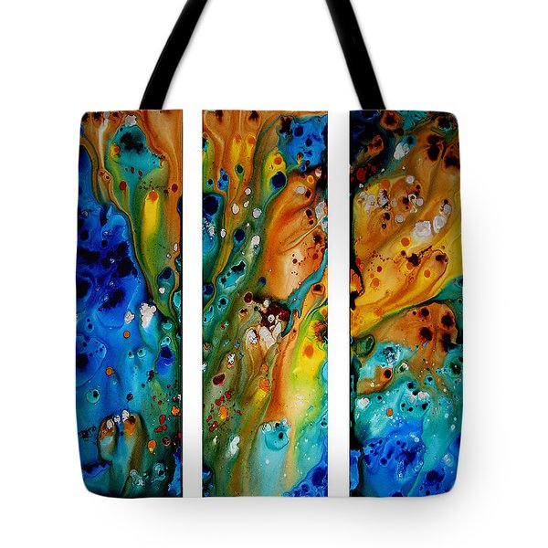 Deep Visions - Abstract Modern Contemporary Art Painting Tote Bag by Sharon Cummings