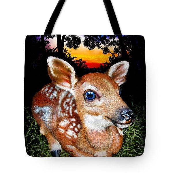 Deer Fawn Tote Bag by Jurek Zamoyski