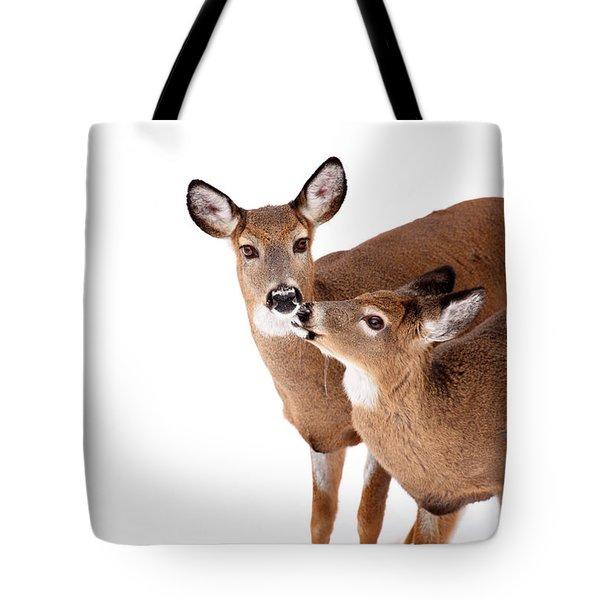 Deer Kisses Tote Bag by Karol Livote