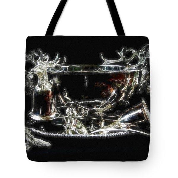 Deer Punch Bowl Set Tote Bag by EricaMaxine  Price