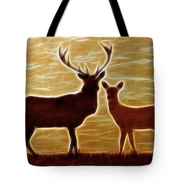 Deers Lookout Tote Bag by Georgeta Blanaru
