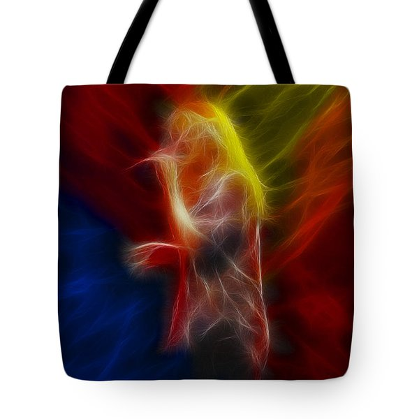 Def Leppard-adrenalize-joe-ga25-fractal Tote Bag by Gary Gingrich Galleries