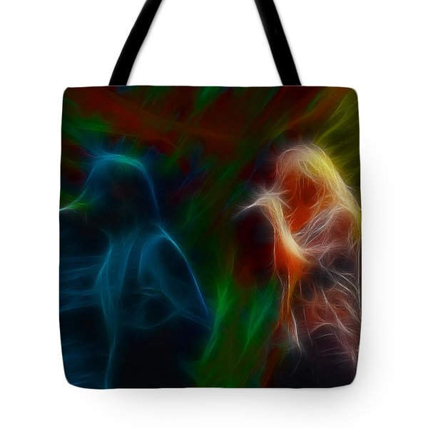 Def Leppard-adrenalize-jor-gb20--fractal Tote Bag by Gary Gingrich Galleries