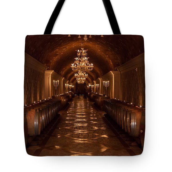 Del Dotto Wine Cellar Tote Bag by Scott Campbell