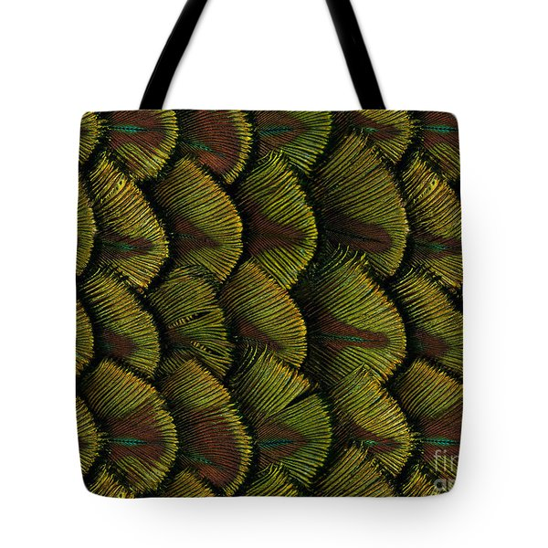 Delicate Feather Tote Bag by Bedros Awak