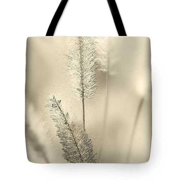 Delicate Sweetgrass Tote Bag by Heiko Koehrer-Wagner