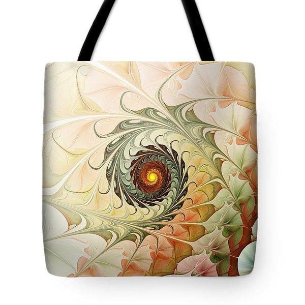 Delicate Wave Tote Bag by Anastasiya Malakhova