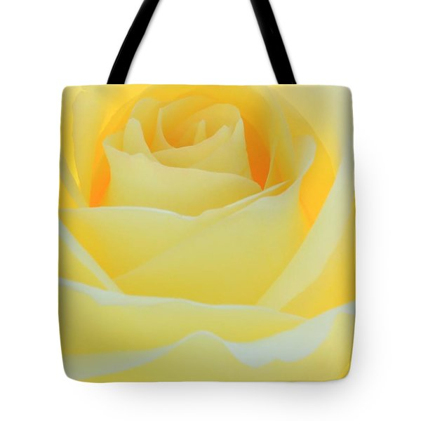 Delicate Yellow Rose Tote Bag by Sabrina L Ryan