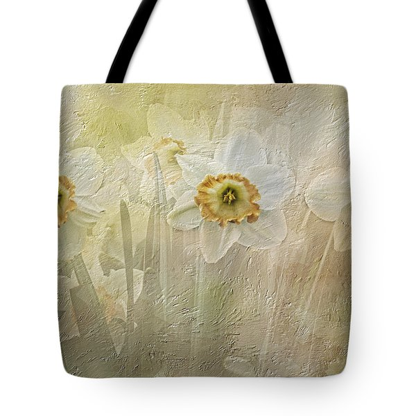 Delightful Daffodils Tote Bag by Diane Schuster