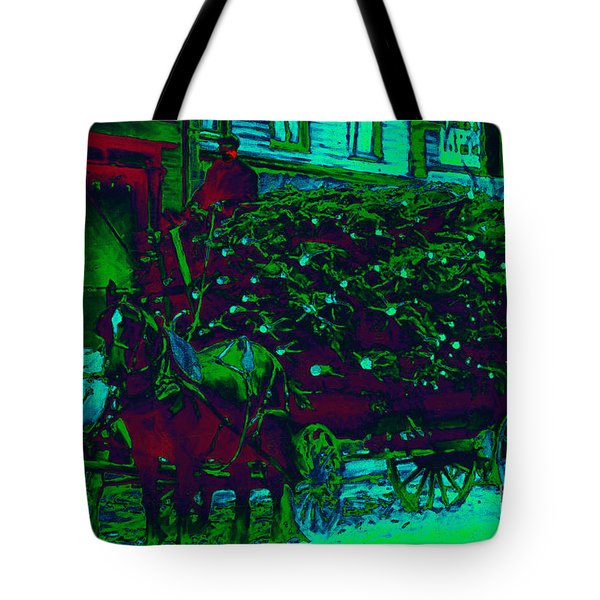 Delivering The Christmas Trees - 20130208 Tote Bag by Wingsdomain Art and Photography