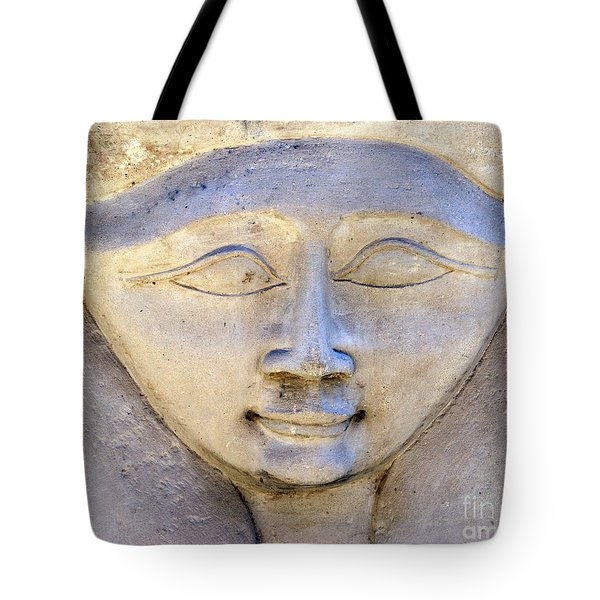 Dendara Carving 2 - Hathor Tote Bag by Brian Raggatt