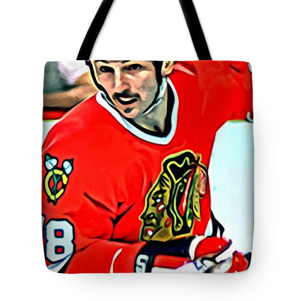Denis Savard Tote Bag by Florian Rodarte