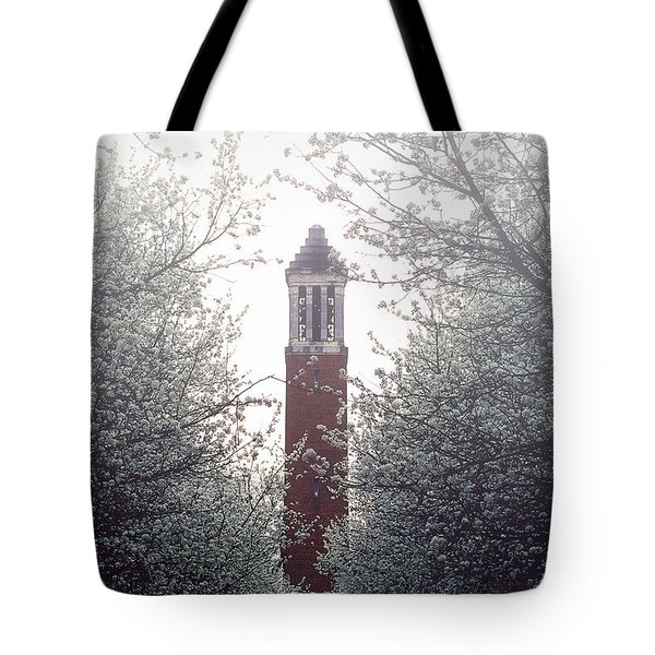 Denny Chimes Foggy Blossoms Tote Bag by Ben Shields