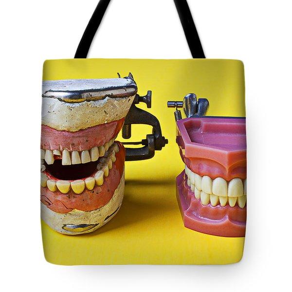 Dental Models Tote Bag by Garry Gay