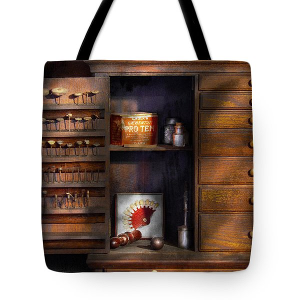 Dentist - Dental Burrs  Tote Bag by Mike Savad