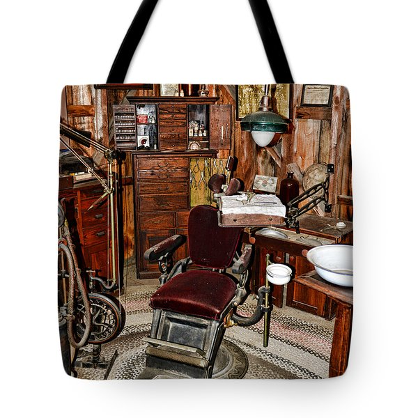 Dentist - The Dentist Chair Tote Bag by Paul Ward
