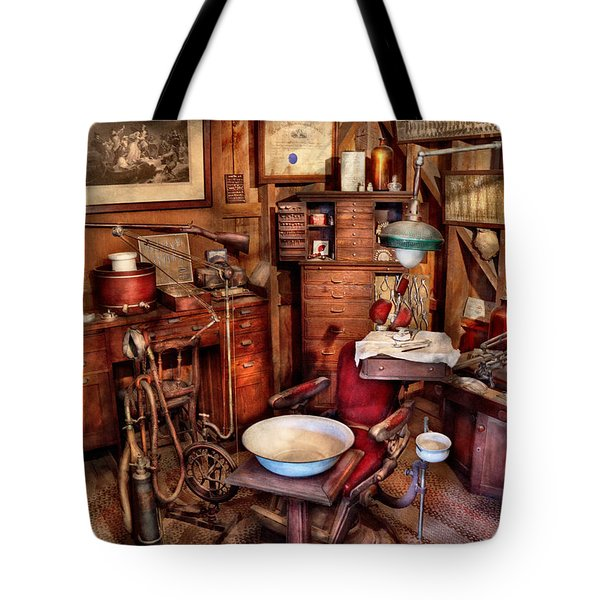 Dentist - The doctor will be with you soon  Tote Bag by Mike Savad