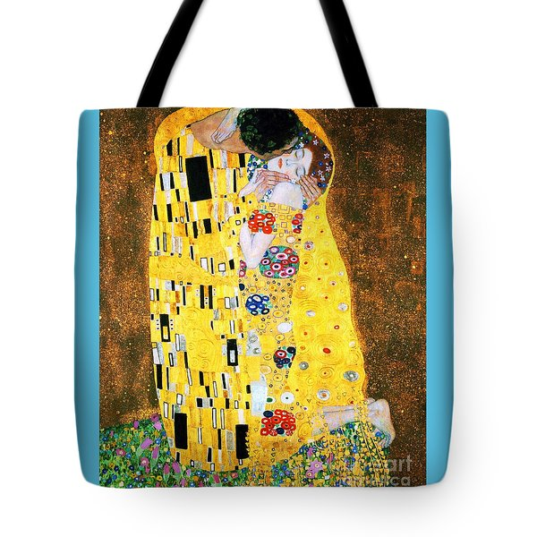 Der Kuss Or The Kiss By Gustav Klimt Tote Bag by Pg Reproductions