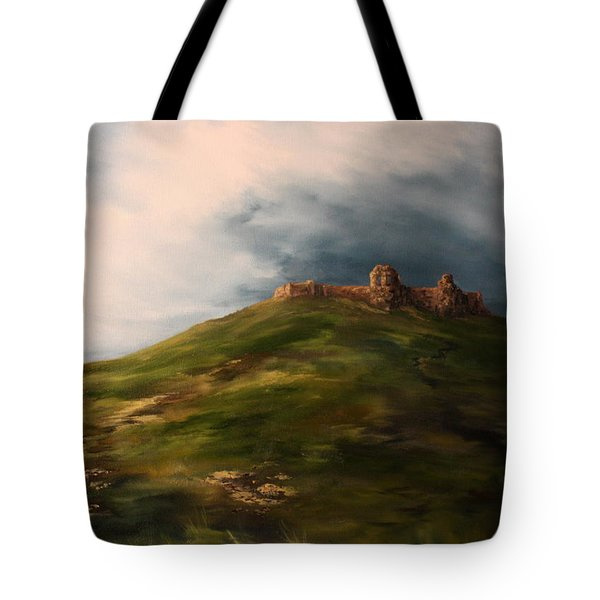 Deralict Chartley Castle Staffordshire Tote Bag by Jean Walker