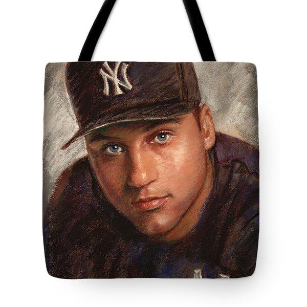 Derek Jeter Tote Bag by Viola El
