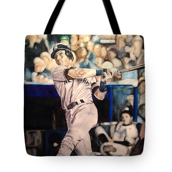 Derek Jeter Tote Bag by Lance Gebhardt