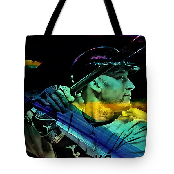 Derek Jeter Tote Bag by Marvin Blaine