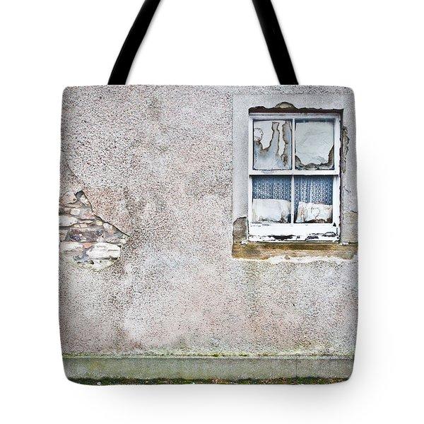 Derelict window Tote Bag by Tom Gowanlock