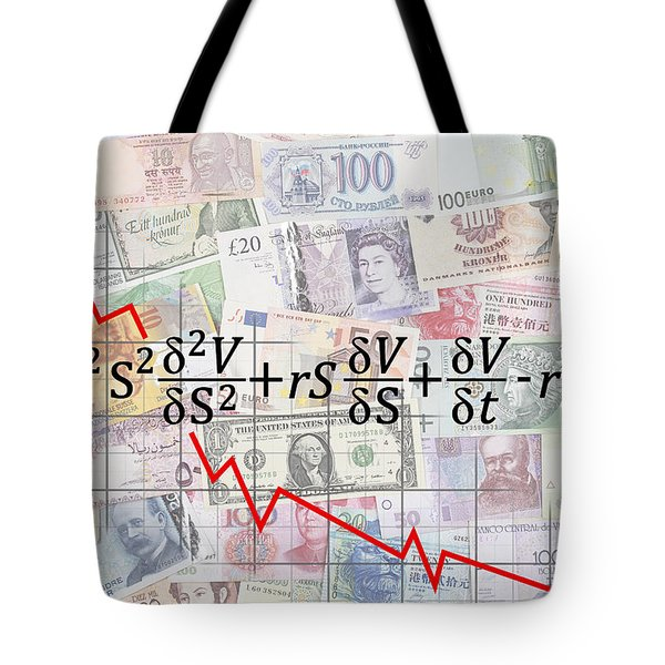 DERIVATIVES FINANCIAL DEBACLE - BLACK SCHOLES EQUATION Tote Bag by Daniel Hagerman