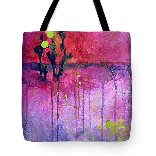Desert Landscape Abstract Tote Bag by Nancy Merkle