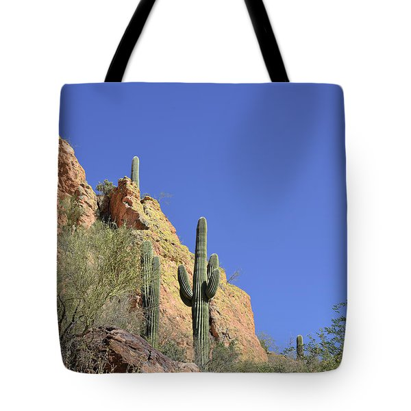 Desert Plants of The Superstitions Tote Bag by Christine Till