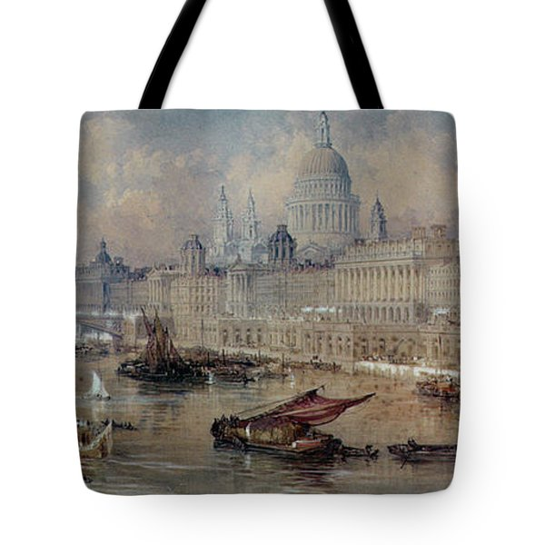 Design For The Thames Embankment Tote Bag by Thomas Allom
