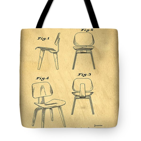 Designs for a Eames chair Tote Bag by Edward Fielding