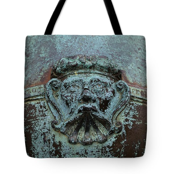 Detail Of A Bronze Mortar Tote Bag by Edward Fielding