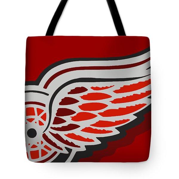 Detroit Red Wings Tote Bag by Tony Rubino