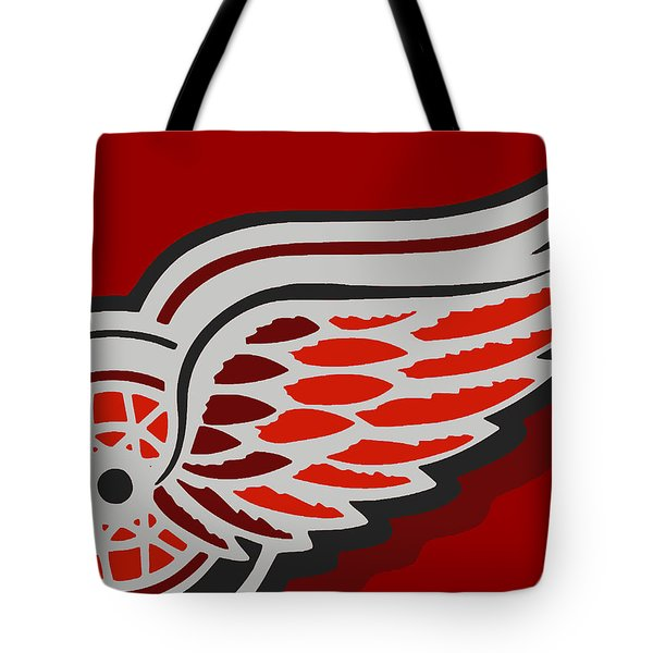 Detroit Red Wings Tote Bag by Tony Rubino