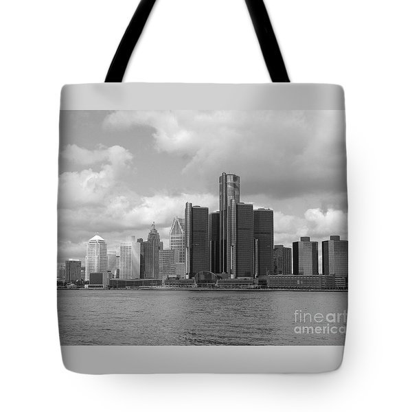 Detroit Skyscape Tote Bag by Ann Horn