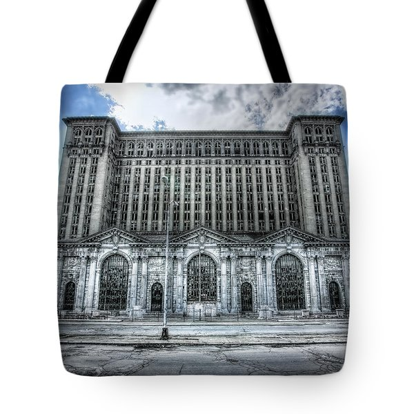 Detroit's Abandoned Michigan Central Train Station Depot Tote Bag by Gordon Dean II