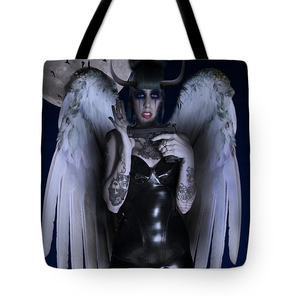 Devil Woman Tote Bag by Nathan Wright