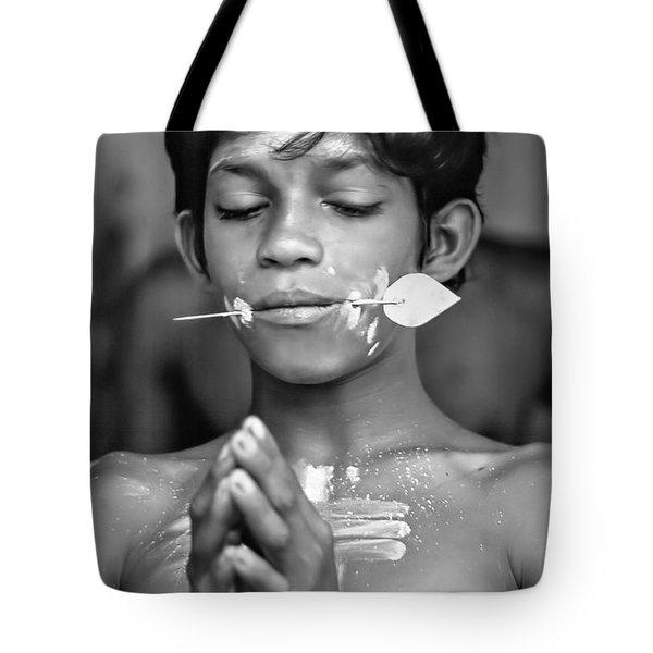 Devotion Bw Tote Bag by Steve Harrington