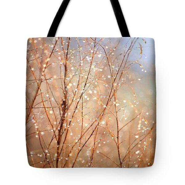 Dewdrop Morning Tote Bag by Carol Groenen