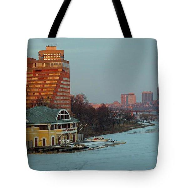 DeWolfe Boathouse Riverside Tote Bag by Barbara McDevitt