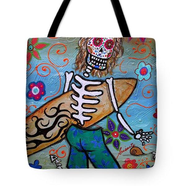 Dia De Los Muertos Surfer Tote Bag by Pristine Cartera Turkus
