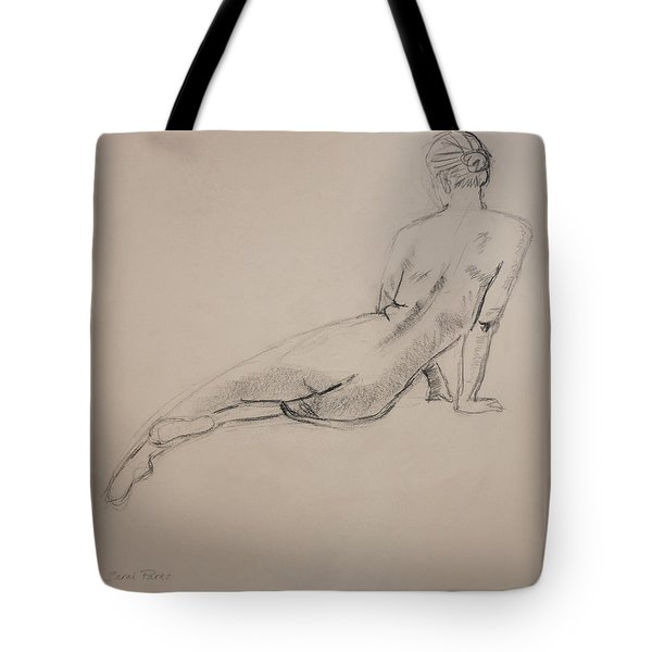 Diagonal Form Tote Bag by Sarah Parks